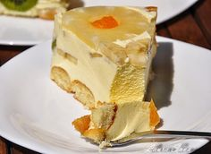 Tort Diplomat   Retete culinare cu Laura Sava Good Food, Yummy Food, Salmon Recipes, Just Desserts, Smoked Salmon, Nutritional Supplements, Cheesecake, Pudding, Cooking Recipes