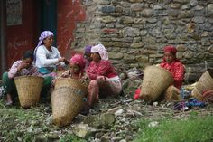 Basket weaving in Pokhara