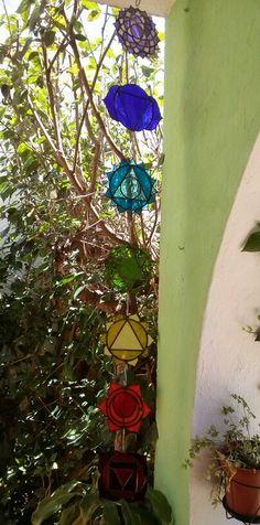 Los siete chakras hechos en  tiffanys por mí