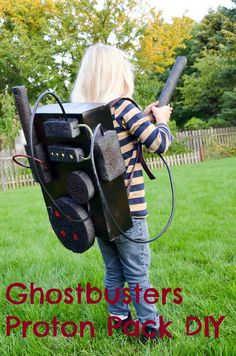 Strong girl Halloween costumes: Ghostbuster's proton pack DIY at Albion Gould