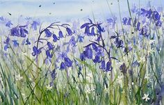 Sian Dudley continues with her love of bluebells in this new watercolour painting entitled 'Bluebell Haze' - Coming soon to ArtTutor.com