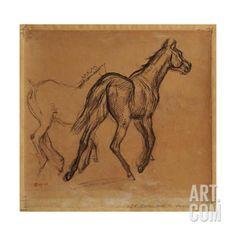 Horses Giclee Print by Edgar Degas at Art.com
