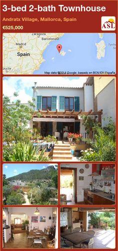 3-bed 2-bath Townhouse in Andratx Village, Mallorca, Spain ►€525,000 #PropertyForSaleInSpain