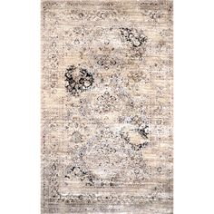 nuLOOM Oriental Vintage Viscose Fancy Ivory Rug (7'8 x 9'6) - Overstock™ Shopping - Great Deals on Nuloom 7x9 - 10x14 Rugs $226.53 Save $51.66 (19%)