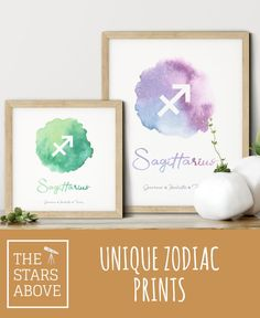 This stunning Watercolor Zodiac Wall Art is a wonderfull addition to any room in your home. With many different sizes and colors to choose from, they can fit any room in your home. Astrological Symbols, Zodiac Signs Sagittarius, Beautiful Artwork, Night Skies, Constellations, Office Decor, Anniversary Gifts, Wedding Gifts, Personalized Gifts