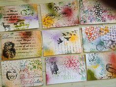 DIY Postcards in mixed media by Diy Postcard, Printable Postcards, Mail Art Envelopes, Fun Mail, Fabric Postcards, Collaborative Art, Art Lessons Elementary, Teaching Art, Art Blog