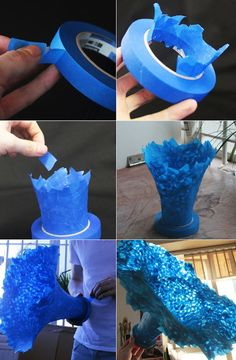 amazing piece made simply from the tape itself. no base needed or glue, it's all…