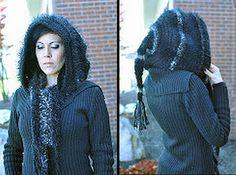 crochet pattern - hooded scarf