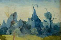 Hieronymus Bosch - The Garden of Earthly Delights (left panel, detail. c.1490-1510)