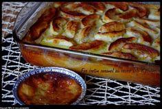 Far Breton caramel beurre salé et pommes 1 litre de lait 1/2 écrémé 6 oeufs 250 g de farine 60 g de sucre en poudre 1 sachet de 200g de caramels mous au beurre salé 5 pommes 1 belle noix de beurre 1/2 sel