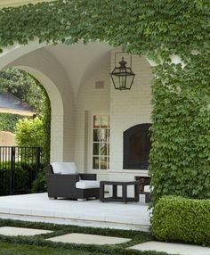 Exterior Design Backyard Covered Patios Vines 19 New Ideas Style At Home, Porch Garden, Backyard Patio, Outdoor Rooms, Outdoor Living, Outdoor Decor, Design Studio, House Design, Patio Design