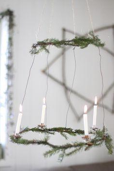 Christmas wreath lamp