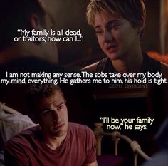 I love when Four says this in the book. Theo also looks fantastic in maroon. Insurgent