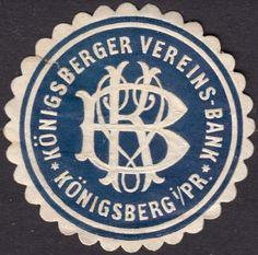 Siegelmarke Königsberger Vereins-Bank Königsberg i/Pr. (Kaliningrad, Russland)