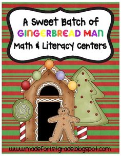 This is our BIGGEST unit yet!!!  It is filled with a total of 17 gingerbread man math