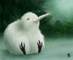 Kiwi by Suhjus on DeviantArt Bird Drawings, Cute Drawings, New Zealand Tattoo, Kiwi Bird, Kiwiana, Albino, Cool Pets, Kawaii Cute, Cartoon Art
