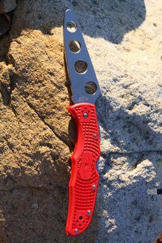 Spyderco Endura 4 Trainer Knife Red FRN (3.75 in. Dull) C10TR | OsoGrandeKnives