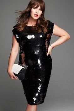 Studio Sequin Party Dress | A La Mod Collection | Women's Plus Size Fashion | ELOQUII