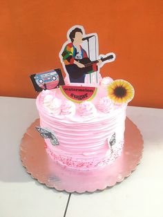Bolos One Direction, One Direction Birthday, One Direction Cakes, Harry Styles Birthday, Harry Birthday, 14th Birthday, Birthday Parties, Birthday Cake, Cake Albums