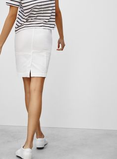 FRAME LE HIGH PANEL SKIRT | Aritzia