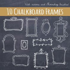 Vector Doodle Frames // Hand Drawn Frames // DIY Wedding Photos // Photo Overlay…