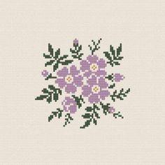 Flower Buds free cross stitch |