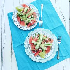 Recipe: Watermelon Cucumber and Lime Salad - Wheat Free Mom Sesame Noodle Salad, Gluten Free Vegetarian Recipes, Herb Salad, Roasted Strawberries, Goat Cheese Salad, Free Mom, Salad Dressing Recipes, Summer Salads, Cucumber