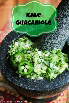 Kale Guacamole is the perfect way to sneak in some healthy dark leafy greens.