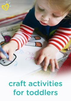 Fuel your child's imagination and encourage learning with some fun kids' crafts and activities. Perfect for a rainy day spent inside, these ideas will engage your toddler with different shapes, colors, and textures!