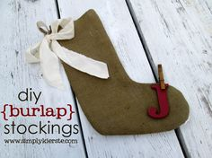 diy stockings without sewing | diy burlap stockings with crap i've made} - Simply Kierste