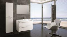 Marsylia 90 2S white z umywalką ceramiczną Iwa • Marsylia 90 2S white with ceramic washbasin Iwa.  #elita #meble #lazienka #marsylia #bathroom #furniture