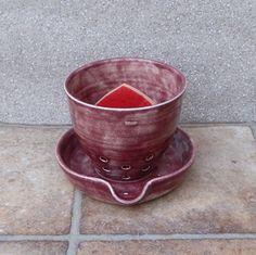 Sponge or dishcloth holder / drainer handthrown stoneware
