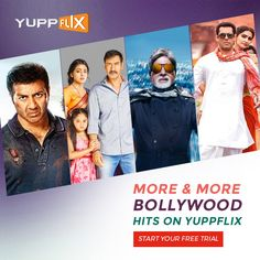 #Bollywood Catalogue has been refreshed. Watch super hit movies of your favorite superstars on YuppFlix  #CatalogueRefresh #YuppFlix #WatchLegally Available in all countries except India!!