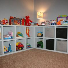 cubbies toy storage Creative Toy Storage, Diy Toy Storage, Playroom Storage, Basement Storage, Kids Storage, Storage Design, Storage Bins, Storage Spaces, Storage Ideas