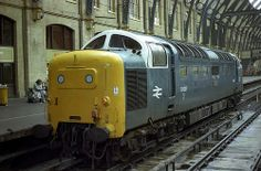 55007 'Pinza' at Kings Cross on 13th June 1980 about to work the 1L42 Kings Cross - York. (Andy Hoare)