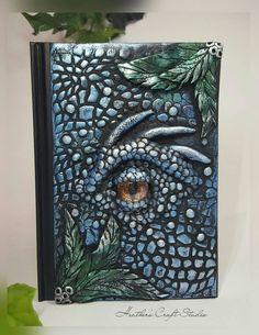 Dragon Eye Journal / Notebook by Heather's Craft Studio on Etsy