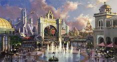 Greg Pro—Paramount theme park concept art