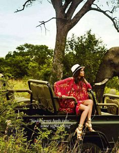 Adventurous African Photoshoots : Vogue India April 2011