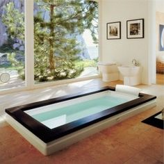 63 Ideas Bathroom Spa Style Jacuzzi For 2019 Spa Bathroom Design, Minimalist Bathroom Design, Spa Like Bathroom, Dream Bathrooms, Modern Bathroom, Bathroom Ideas, Jacuzzi Bathroom, Bath Tub, Relaxing Bathroom
