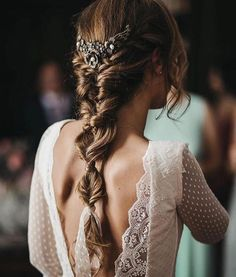 Arabella Lace Dress in Classic White Ideas for bridal hair Hair ideas and inspiration for a boho, festival, outdoor wedding and bride in Tight Braids, Loose Braids, Boho Wedding Hair, Wedding Braids, Trendy Wedding, Braids For Wedding Hair, Vintage Bridal Hair, Bridal Braids, Vintage Weddings