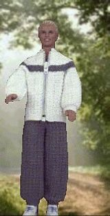 Crocheted Jogging suit for Ken  http://www.allcrafts.net/crochetsewingcrafts.htm?url=web.archive.org/web/20040930181851/http://www.geocities.com/barbie42day/park.html