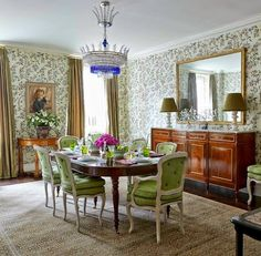 The Zhush: Book Review: Markham Roberts ~ Decorating The Way I See It. Love the fresh green on the chairs!
