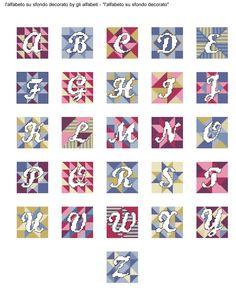 Alfabeto Su Sfondo Decorato