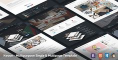 Kwoon - Multipurpose Single/Multi-page Template