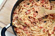 Cheesy lobster spaghetti (recipe) -- only 350 calories, 7.8 grams of fat and 8 weight watchers points