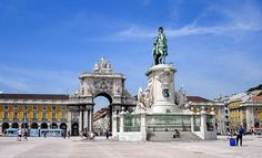 Commerce Square (commonly known as Terreiro do Paço) with Statue of King José I, Lisbon