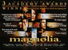 """Film: Magnolia (1999) Year poster printed: 2000 (First theatrical release in UK) Country: United Kingdom Size: 30"""" x 40"""" """"Things fall down. People look up. And when it rains, it pours."""" This is a vint"""