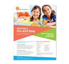 Preschool Education Flyer Template Http://www.dlayouts.com