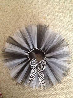 Zebra tutu black and white