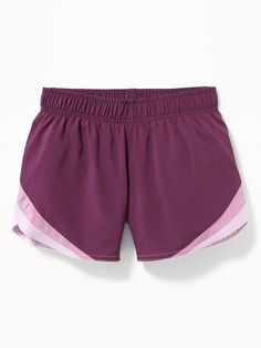 6cb6de2bdf56 Go-Dry Cool Color-Blocked Run Shorts for Girls